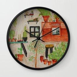 Green Chaos Wall Clock