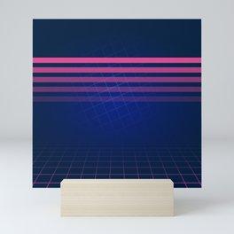 The Nostalgic Allure of Synthwave Mini Art Print