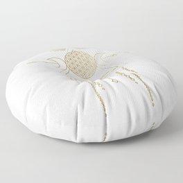 Golden Goddess Mandala Floor Pillow