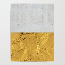 Gold Foil and Concrete Poster