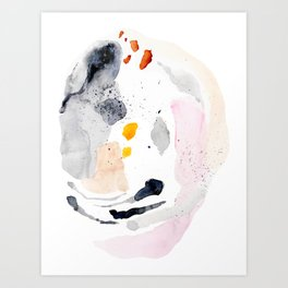 thoughtform - abstract painting Art Print