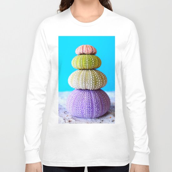 Oursin color coquillage Long Sleeve T-shirt