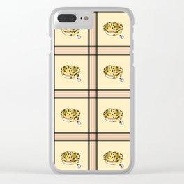 Leopard Gecko Plaid Clear iPhone Case