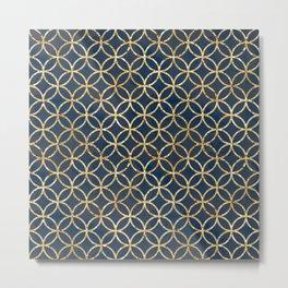 The Geometric Abstract Pattern Metal Print