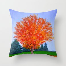 Fall tree in ND Throw Pillow