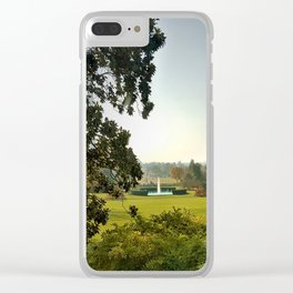 Fountain on the lawn Clear iPhone Case