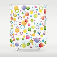 circles Shower Curtains featuring Circles by victimArte