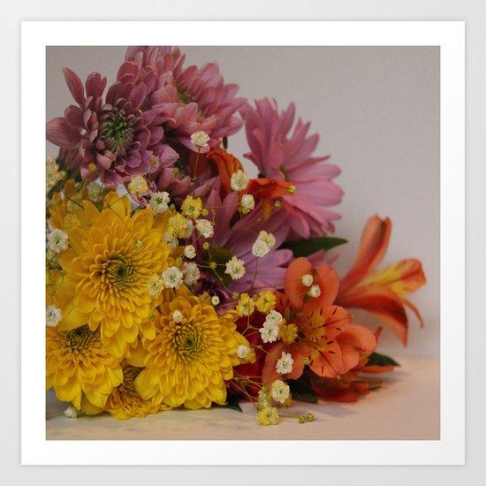 Bouquet colour Art Print