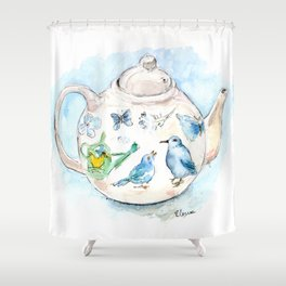 Tea in Wonderland Shower Curtain