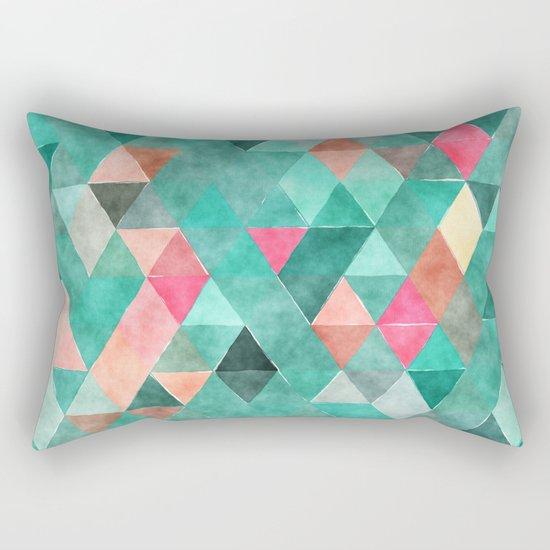 Retro Triangles Pattern 03 Rectangular Pillow