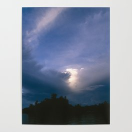 Ray of Hope in the Stormy Sky Poster