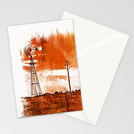 West Texas Windmill Stationery Cards
