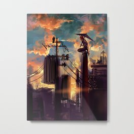 GINTAMA-lonely fighter Metal Print