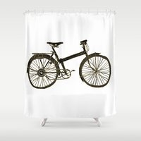 bicycle Shower Curtains featuring Bicycle by chyworks