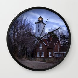 Night at the Light Wall Clock