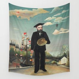 Henri Rousseau - Myself: Portrait – Landscape Wall Tapestry
