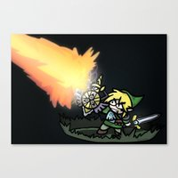 hyrule Canvas Prints featuring Hyrule Master by PeekingBoo