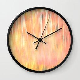Blur of Autumn Wall Clock