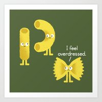 pasta Art Prints featuring Pasta Party by David Olenick