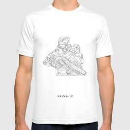 HALO Master Chief continuous line T-shirt