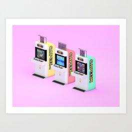 Capcom Candy Cab Art Print