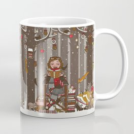Lily reads for the Forest Animals on Christmas Eve Coffee Mug