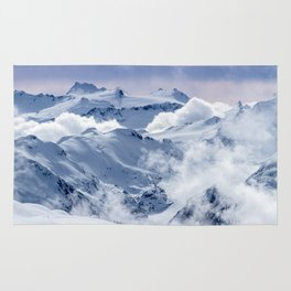 Snowy Mountains and Glaciers Rug