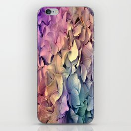 Soft Multi Color Hydrangea iPhone Skin