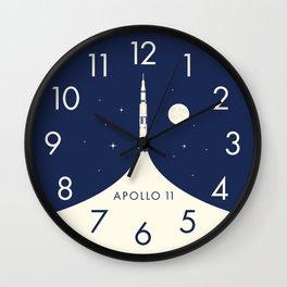 Apollo 11 Space - Saturn Rocket B Wall Clock