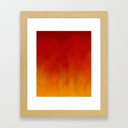 Flames of Gold Framed Art Print