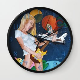 The illusory rockstar Wall Clock
