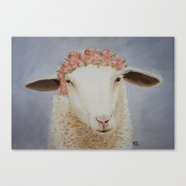 Crowned Lamb Canvas Print