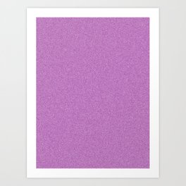 Dense Melange - White and Purple Violet Art Print