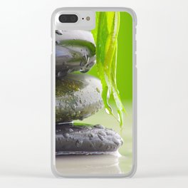Wellness Stones Clear iPhone Case