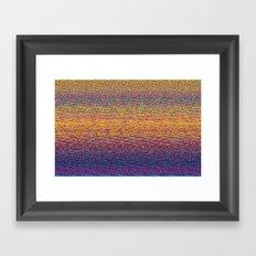 CMYK Glitch Framed Art Print