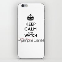 the vampire diaries iPhone & iPod Skins featuring Keep Calm And Watch The Vampire Diaries by swiftstore