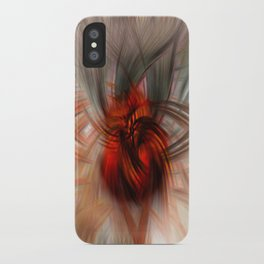 red fire iPhone Case