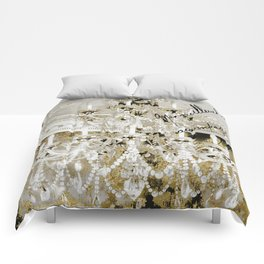 Crystal Pearls Chandelier Paris Comforters