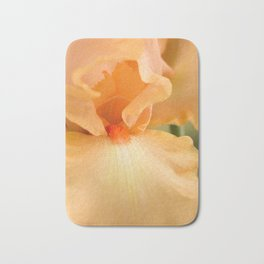 Bearded Iris Orange Harvest Bath Mat