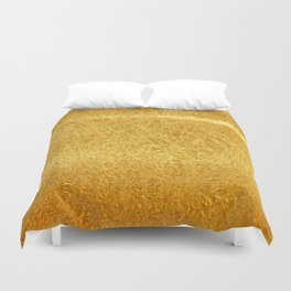 Crinkled Gold Foil Texture Christmas/ Holiday Duvet Cover