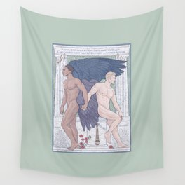 Hypnos and Thanatos (Sleep and Easeful Death) Wall Tapestry