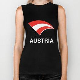 Austria Flag- Proud Austrian American Biker Tank