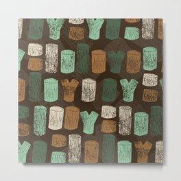 Logs Metal Print