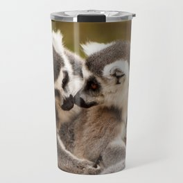 Family Ring tailed Lemurs Madagascar Travel Mug