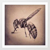 bee Art Prints featuring Bee by Werk of Art