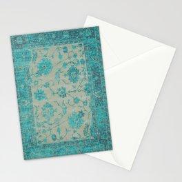 blue antique carpet Stationery Cards