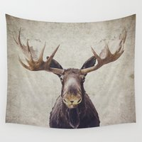 moose Wall Tapestries featuring Moose by Retro Love Photography