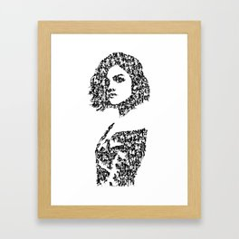 Kanji Calligraphy Art :woman's face #36 Framed Art Print