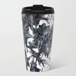 Midnight Trees Abstract Painting Travel Mug