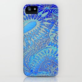 Blue pattern iPhone Case